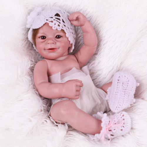 45cm corpo de silicone completo reborn boneca do bebê brinquedo realista recém-nascido bebês boneca brinquedos banho