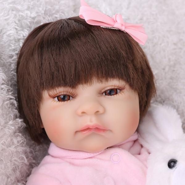 silicone reborn bebê boneca brinquedos Npk 55cm lifelike dormir recém-nascidos meninas do bebê jogar casa meninas presentes de aniversário reborn boneca
