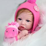 55cm bonito silicone simulação boneca do bebê artesanal casa presente de aniversário boneca brinquedo da menina de dormir brinquedo bebê macio bebês boneca