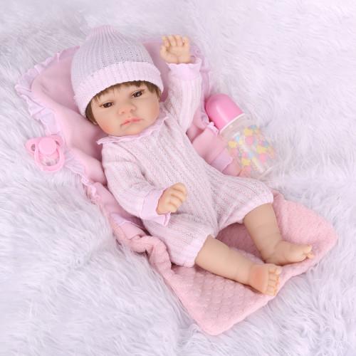 Npk 57 cm silicone cheio reborn bebê boneca criança playmate presente para meninas bebê menina brinquedos macios para bebes reborn brinquedo