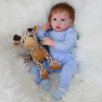 Novo padrão menina brinquedos 55cm silicone macio renascer bonecas bebê realista boneca reborn boneca reborn boneca para meninas