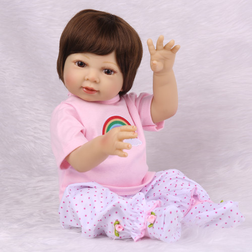 Npk reborn premie lifelike reborn bebê boneca presente de aniversário para meninas mão