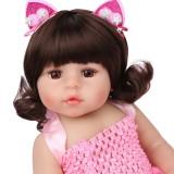 silicone 55cm reborn boneca do bebê brinquedos bonitos para a menina 2 roupas reais recém-nascidos bebe presentes de aniversário crianças playmate