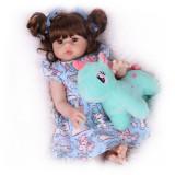 NPK 55cm bebe boneca renascer bebê recém-nascido dormindo de corpo inteiro silicone macio toque real boneca alta qualidade