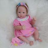 Boneca Bebê Reborn de silicone Mamãe Filhinha 55cm Panda Linda Realista Presente Natal Dia Das Crianças
