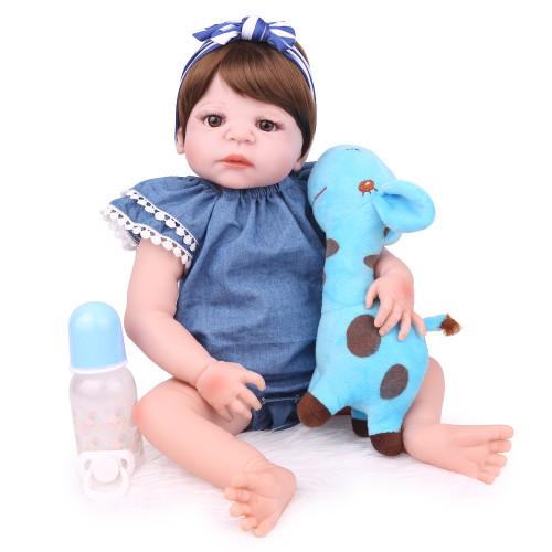 Silicone reborn boneca do bebê brinquedo 55cm recém-nascidos bebês menino boneca lifelike presentes de aniversário meninas brinquedos para casa de jogo