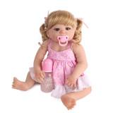 55cm Corpo Cheio de Silicone Boneca Reborn Brinquedo Princesa Recém-nascidos Bebês Bebe Menina Da Criança Presente de Aniversário de presente