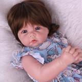 22 polegada de corpo inteiro silicone renascer menina boneca do bebê brinquedos como real recém-nascidos dormindo bebês bonecas banho brinquedo crianças presente aniversário