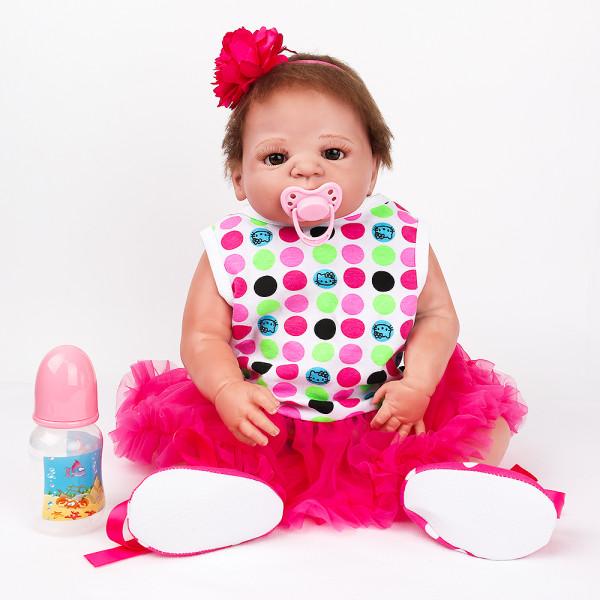 silicone macio reborn boneca do bebê brinquedo 55CM vinil completo recém-nascidos boneca para a menina boneca presente de natal criança banhar brinquedo