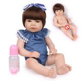 55cm de corpo inteiro silicone reborn bebê boneca brinquedo lifelike soft macio recém-nascidos princesa bebês menina bonecas bebe banhar brinquedo