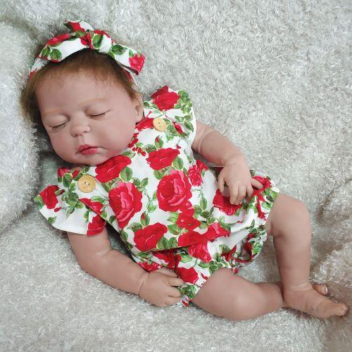 Bzdoll 22  de corpo inteiro silicone renascer bebê bonecas loira menina realista recém-nascidos da princesa bebês vivo bebe boneca brinquedos