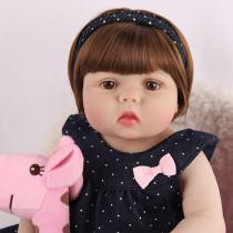 55cm vinil corpo de silicone completo reborn boneca do bebê brinquedo para a menina toque macio bebês boneca banhar brinquedo presente aniversário