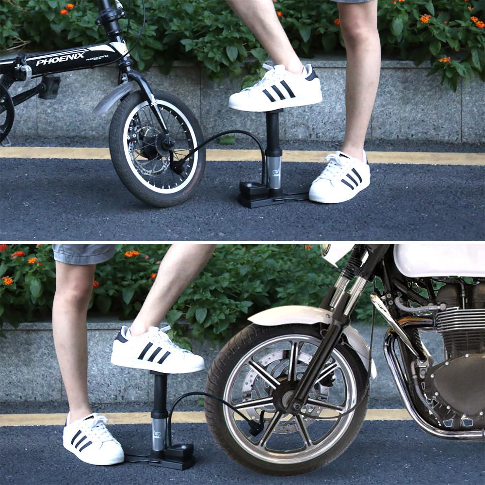 US$ 13.99 - Bicycle Pump, Behozel mini Portable Foot Pumps with Pressure  Gauge for all AV/DV/SV Valves, Floor Pump Suitable for MTB Trekking, City  Bikes and Children's Bikes. For Balls Swim Ring
