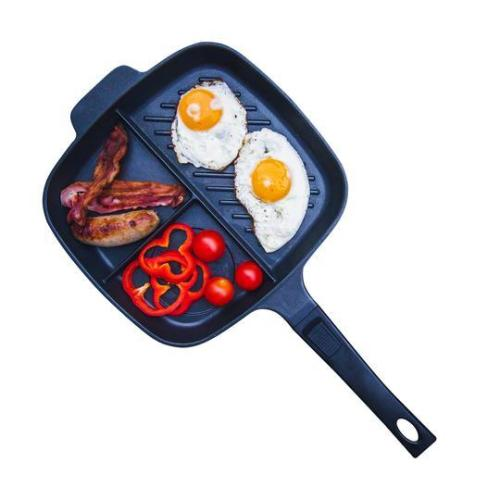 The Lazy Pan - Cast Aluminium Non-Stick Multi-Section Frying Pan
