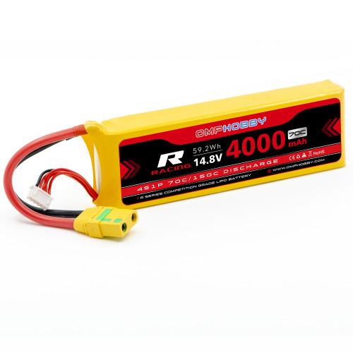 OMPHOBBY 4s LiPo Battery 70C (14.8V/4000mAh) w/XT90 Connector