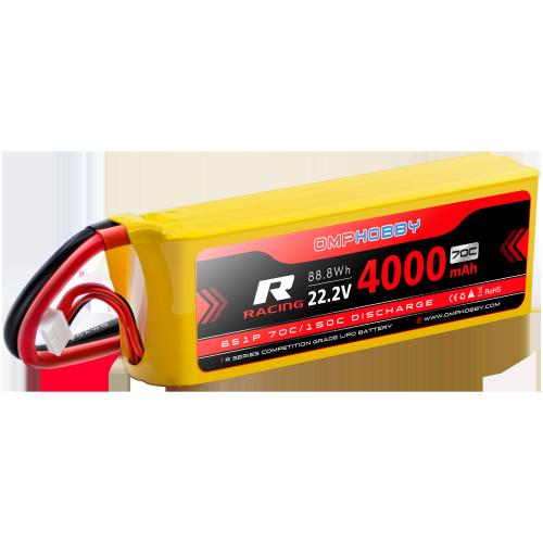 OMPHOBBY 6s LiPo Battery 70C (22.2V/4000mAh) w/XT90 Connector