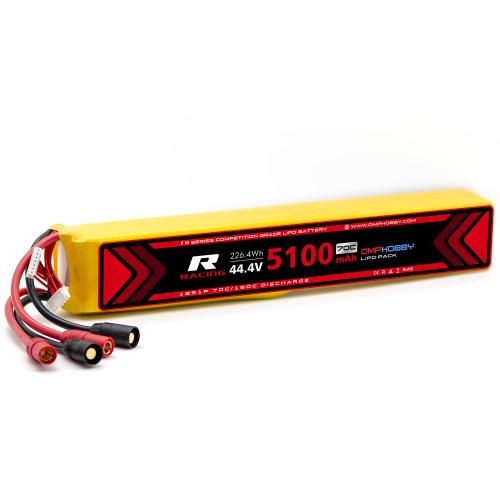 OMPHOBBY 12s LiPo Battery 70C (44.4V/5100mAh) w/AX150 Connector