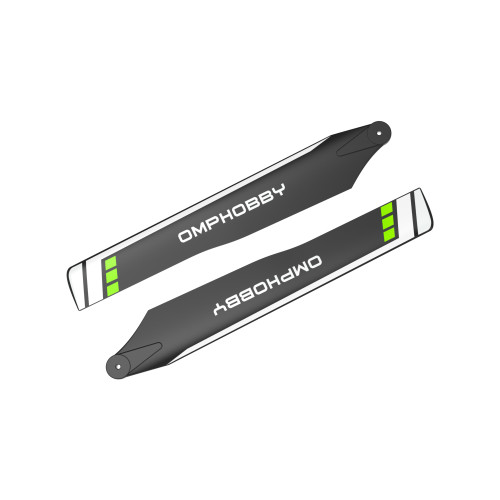 OMPHOBBY M2 Replacement Parts 175MM Main Blades-Green For M2 V2/Explore OSHM2106