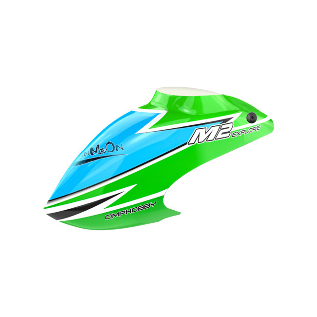 OMPHOBBY M2 Replacement Parts Canopy Set-Green For M2 Explore OSHM2101