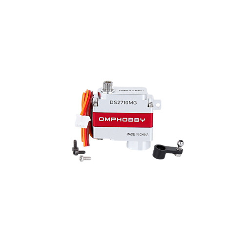 OMPHOBBY M2 Replacement Parts Servo Set-Red And Silver For M2 V2 OSHM2122