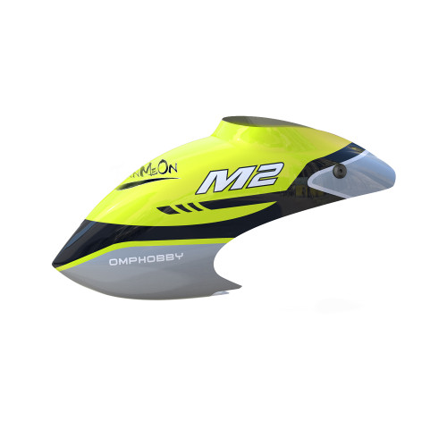 OMPHOBBY M2 Replacement Parts Canopy Set-Racing Yellow For M2 2019/V2 OSHM2041
