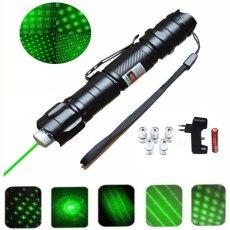 緑色レーザーペンポインター5mw 532nm 18650バッテリー + 充電器