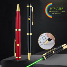 ボールペン付きレーザーポインター分解できる ペン型指示ポインター USB充電 携帯に便利 リフィル交換できる