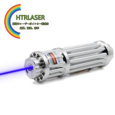 ハイパワーレーザーポインター50000mw 445nm最も人気ブルーガトリング強力なレーザーペン  格納式ズームキーホルダーミニ懐中電灯贈る