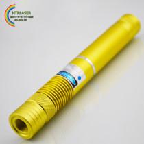 綺麗な金色(ゴールド)本体レーザー懐中電灯 450nm 10000mw ブルーレーザーポインター高級レーザー指示棒