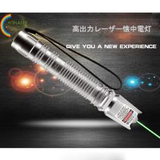 銀色新品 1000mw 532nm 緑色レーザーポインター満天星キャップ付き クラスIIIBレーザー高出力