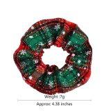 2020 Fashion Christmas Scrunchie Elastic New Handmade HeadBands Hair Rope Ponytail