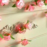 2M 20led AA Battery Powered Rose Flower Christmas Holiday String Lights