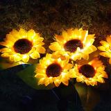 Led solar sunflower