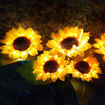 Led solar sunflower