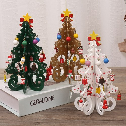 Children's Handmade DIY Stereo Wooden Christmas Tree