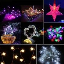 10M 70 Led Christmas Tree Snow Star Bulbs Led String Fairy night Light
