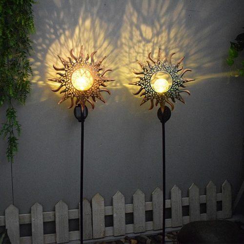 Romantic Solar Crackle Sun Garden Light