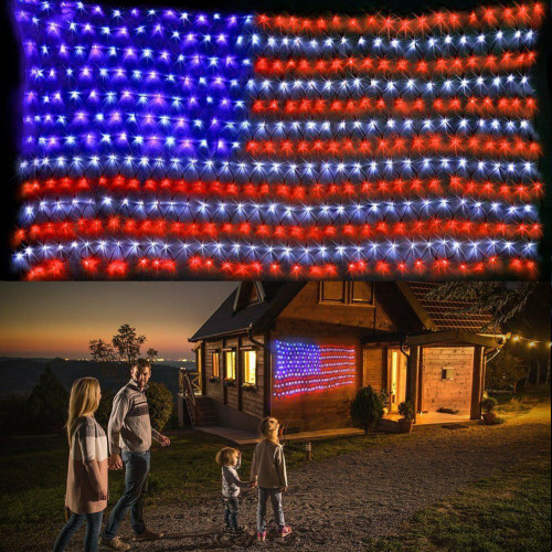 Large American FLAG outdoor lamp