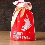 10pcs Santa Gift Bag Candy Bag Snowflake Crisp Bag