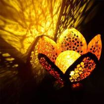 Solar Flower Crackle Garden Light, 2 Pack