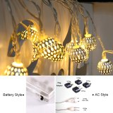 Fairy 10M Garland Morocco Ball LED String Lights Battery Christmas Lights Outdoor Decoration