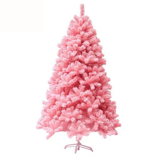 Encryption PVC Flocking Pink Christmas Tree