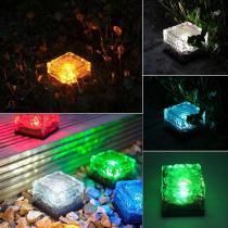 Solar Powered Brick Shape Path Light