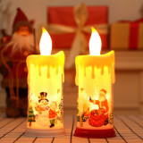 Christmas Teardrop Candle Electronic Simulation Candle Lamp Decoration Props