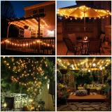 Fairy Lights Battery Operated 33ft 80LED String Lights with Remote Waterproof Indoor Outdoor Hanging Lights Decorative