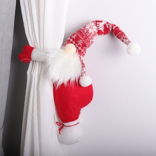 New Santa Claus Ornament Knitted Wool Curtain Hold Door Curtain Button