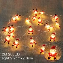 2M 20LED Santa Claus Snowflake Tree LED Light String Christmas Decoration