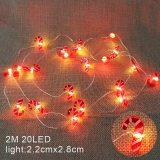 2M 20LED Santa Claus Snowflake Tree LED Light String Christmas Decoration