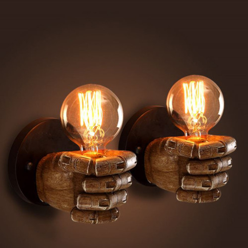 NOVELTY FIST WALL-MOUNTED LAMP