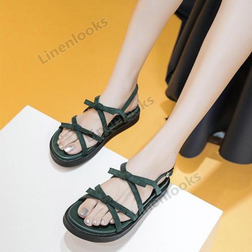 Summer Soft All-Match Women's Flat Suede Beach Ladies Fashion Comfort Sandals